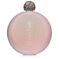 Brumate Glitter Flask Blush  5 oz.