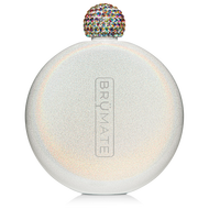Brumate Glitter Flask Ice White   5oz.