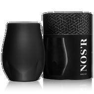 Brumate NOS'R Insulated Nosing Glass   Matte Black  7 oz.