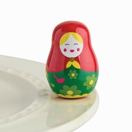 """NEW!  Nora Fleming """"All Dolled Up"""" mini (Nesting Dolls) Expected August"""