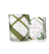 Thymes Frasier Fir Frosted Plaid Votive 2 oz.