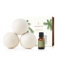 Thymes Frasier Fir Wool Dryer Balls & Laundry Fragrance Oil Set (3 balls w/.5 oz fragrance oil)