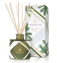 Thymes Frasier Fir Frosted Plaid Petite Diffuser, 4oz
