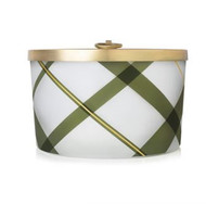 Thymes Frasier Fir Large Frosted Plaid Candle, 18oz