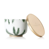 Thymes Frasier Fir Poured Candle Tin, Gold Lid, 6.5oz