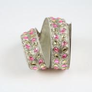 Pink Jeweled Ribbon