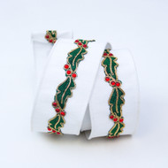 White Holly Border Ribbon