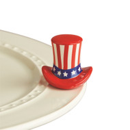 Nora Fleming Uncle Sam Hat Mini, Home of the Free  Currently on Back order, Expected late June