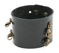 Lenny and Eva Wide Cuff in Black