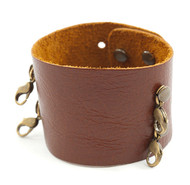 Lenny and Eva Wide Cuff in Dark Chestnut