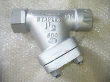 "STAPLES & PFEIFFER INC. STRAINER SEDIMENT P/N 142SW-1.5-600-.020SS Size: 1 1/2"" IN"