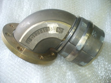 """AEROQUIP ELBOW, FLANGE TO HOSE P/N 265-190656-3 1-2-64 Size: 3 1/2"""" IN"""