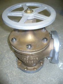"""MILVACO ANGLE VALVE P/N 882000880 Size: 3 1/2"""" IN 100 WOG"""