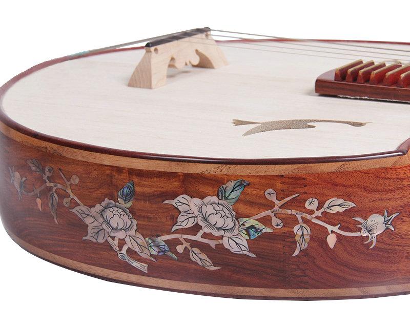 Premium Quality Aged Sandalwood Zhongruan Instrument Chinese Moon Guitar Ruan