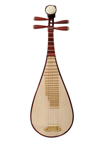 Quality Chinese Travel Size Sandalwood Pipa Instrument Chinese Lute With Accessories