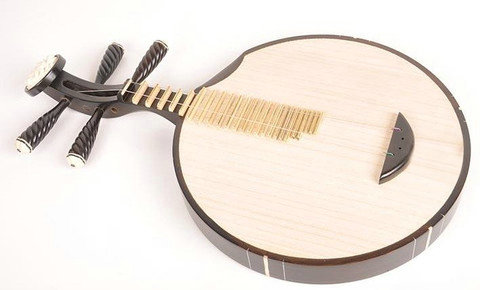 Professional Black Sandalwood Yueqin Chinese Moon Guitar