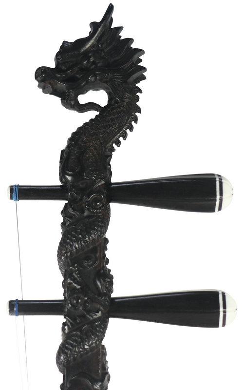 Concert Level Black Sandalwood Erhu Instrument Chinese Violin Fiddle With Accessories