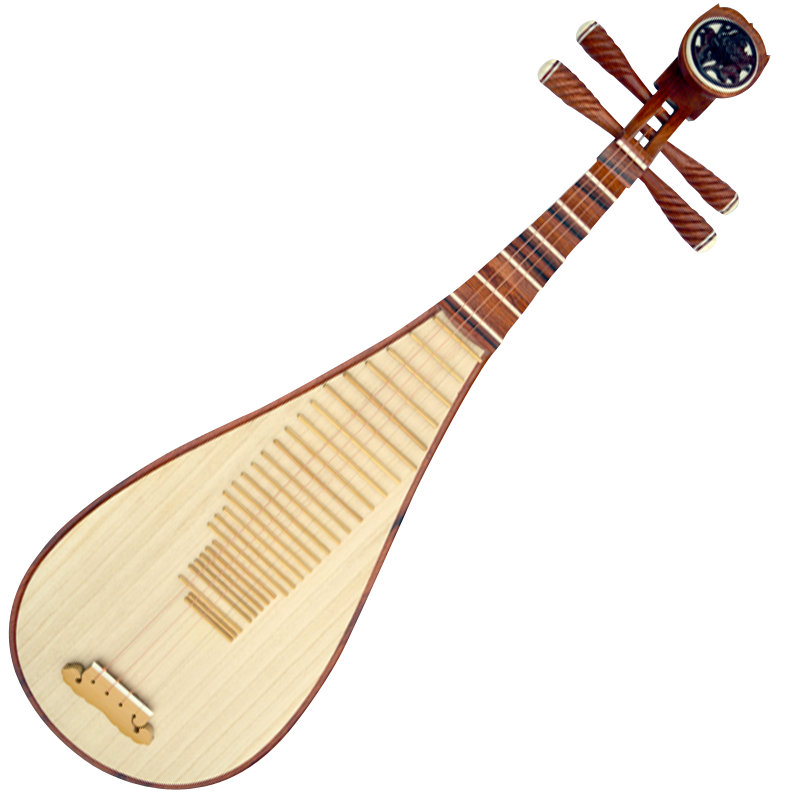 Concert Grade Chinese Lute Sandalwood Pipa Instrument With Accessories
