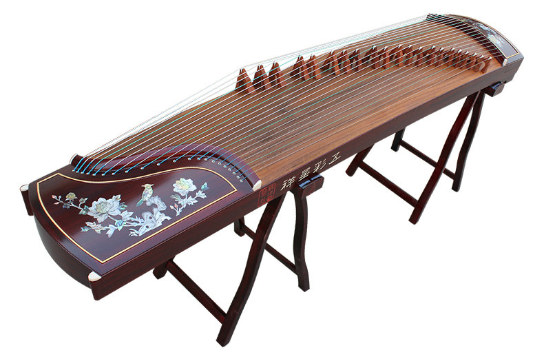 Professional Carved Purple Sandalwood Guzheng Instrument Chinese Harp