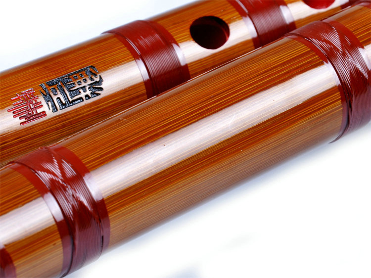Professional Level Chinese Bitter Bamboo Flute Dizi Instrument with Accessories