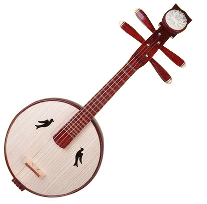 High Quality Xiao Ruan Instrument Chinese Moon Guitar Ruan With Accessories