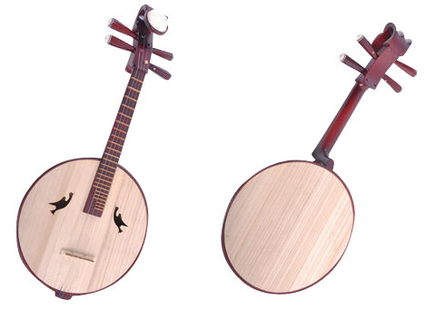 High Quality Zhongruan Instrument Chinese Moon Guitar Ruan With Acceesories