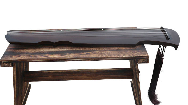 Professional Level Aged Fir Wood Guqin Instrument Chinese Zither Fu Xi Type