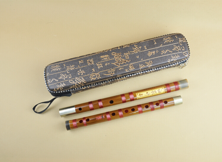 Professional Level Chinese Purple Bamboo Flute Dizi Instrument with Accessories