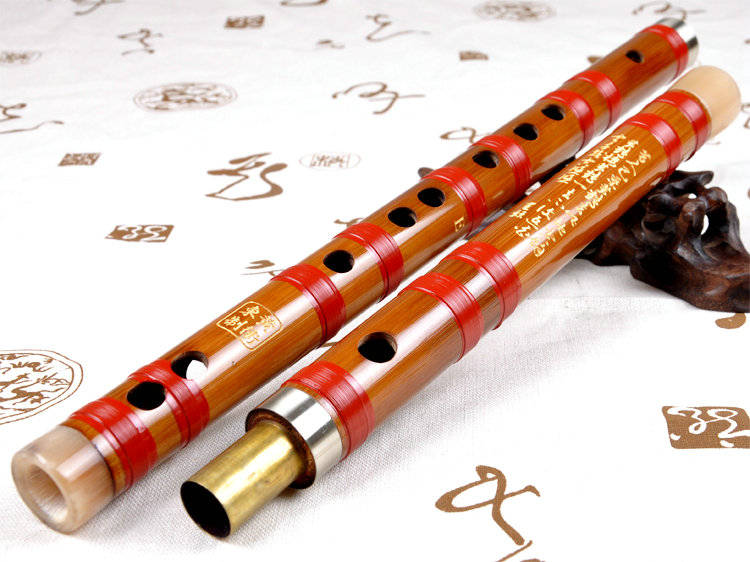 Professional Level Bitter Bamboo Flute Chinese Dizi Instrument with Accessories