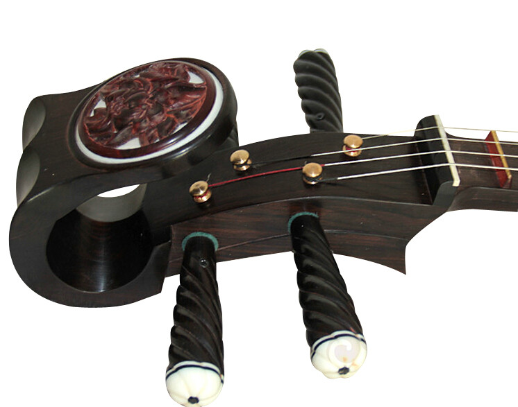 Concert Grade Black Sandalwood Zhongruan Instrument Chinese Mandolin