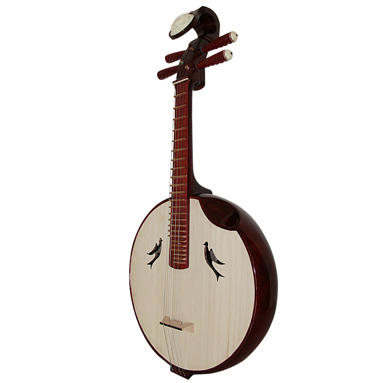 Professional Sandalwood Zhongruan Instrument Chinese Moon Guitar Ruan
