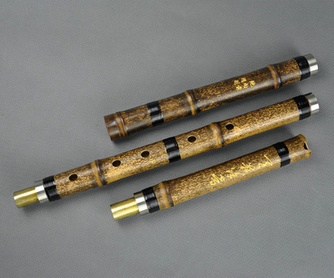 Master Made Purple Bamboo Flute Xiao Instrument Chinese Shakuhachi 3 Sections