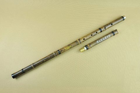 Quality Purple Bamboo Flute Xiao Instrument Chinese Shakuhachi 2 Sections