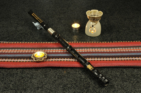 Concert Level Aged Sandalwood Flute Xiao Instrument 2 Sections Short Type