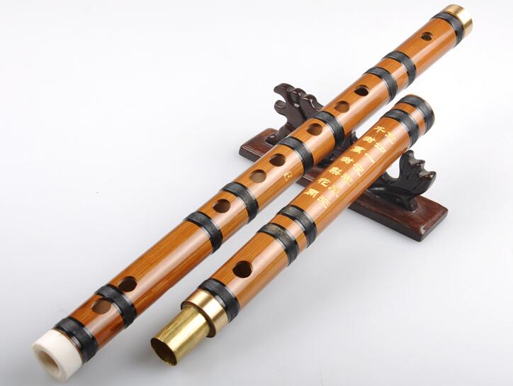 Beginner Level Chinese Bitter Bamboo Flute Dizi Instrument 2 Sections