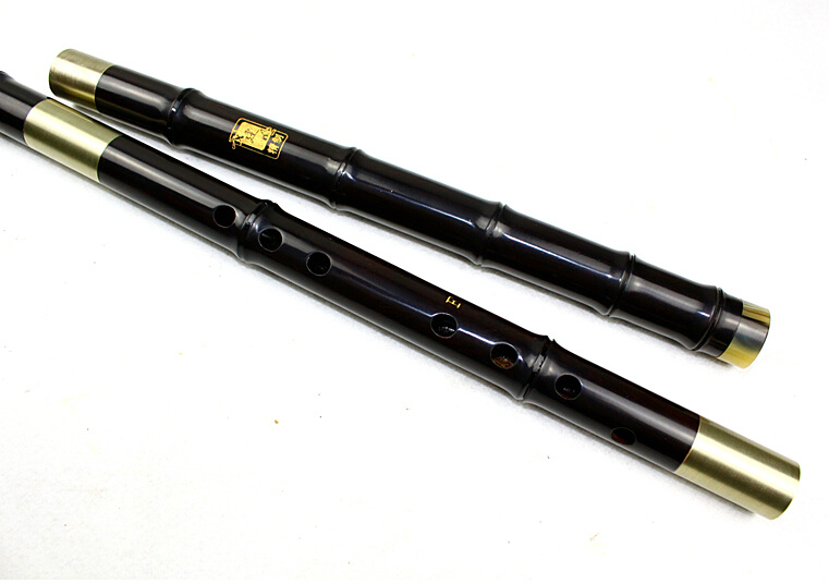 Master Made Chinese Black Sandalwood Flute Xiao Instrument 3 Sections With Case
