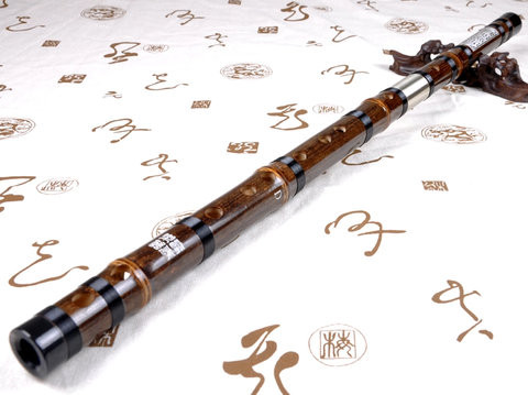 Professional Level Purple Bamboo Flute Chinese Dizi Instrument with Accessories