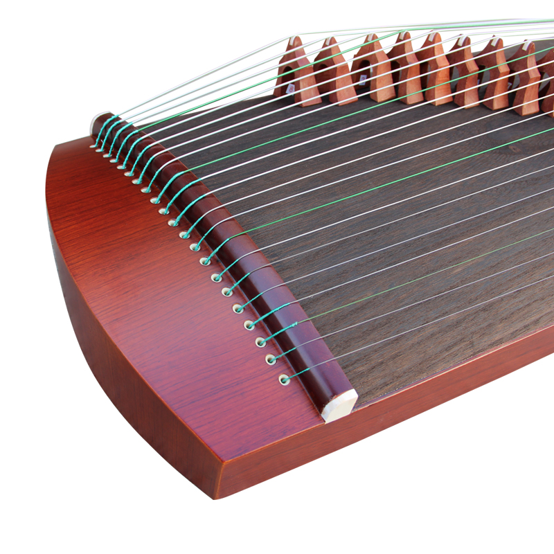 Exquisite Travel Size Red Sandalwood Guzheng Instrument Chinese Harp