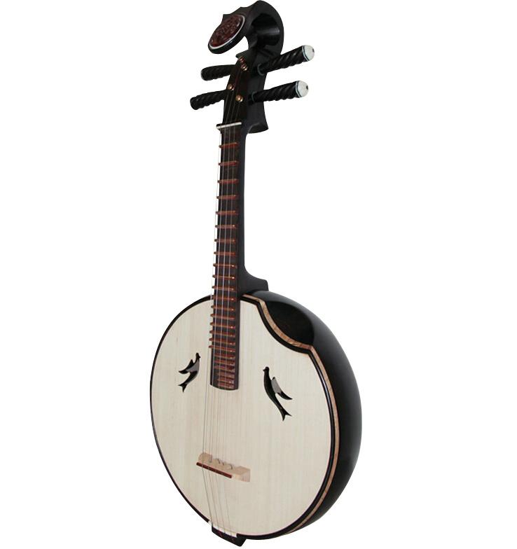 Concert Grade Black Sandalwood Zhongruan Instrument Chinese Moon Guitar
