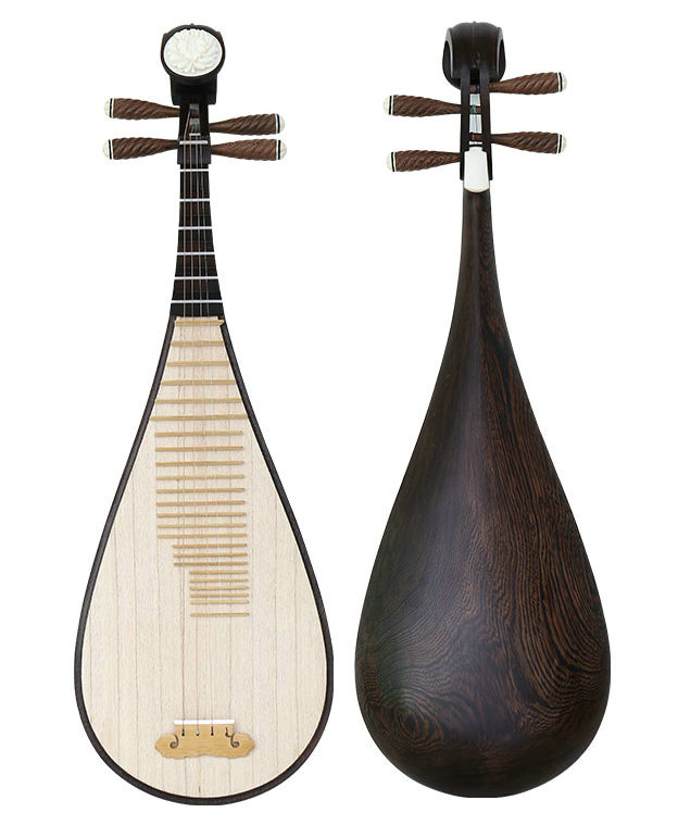 Premium Quality Wenge Wood Pipa Instrument Chinese Lute With Accessories