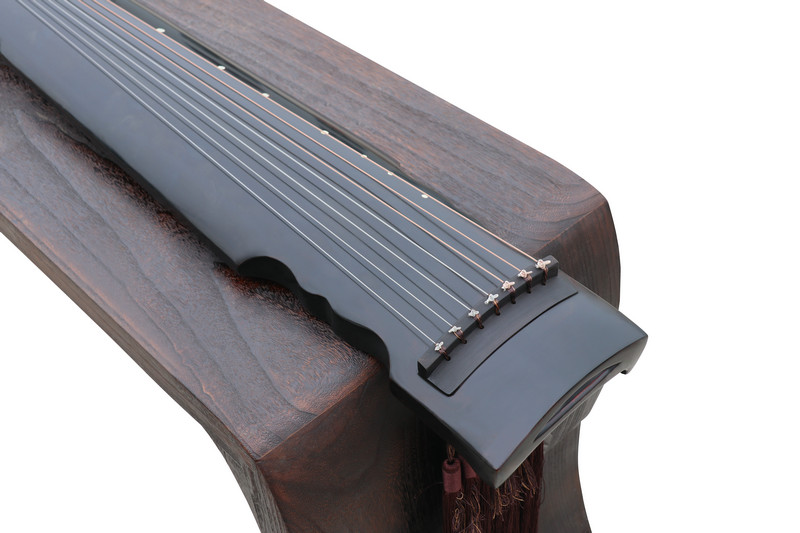 Concert Grade Aged Fir Wood Guqin Chinese 7 Stringed Zither Lian Zhu Style