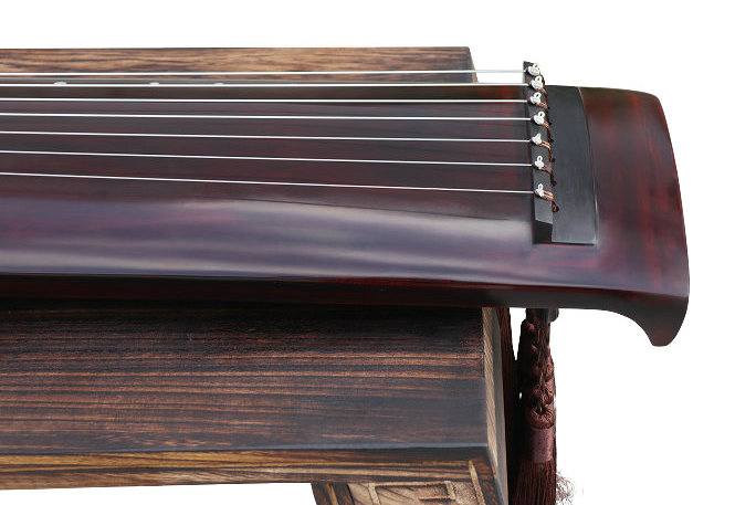 Professional Aged Fir Wood Guqin Instrument Chinese 7 String Zither Zheng He Style