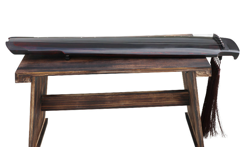 Professional Aged Fir Wood Guqin Instrument Chinese 7 String Zither Sheng Nong Style