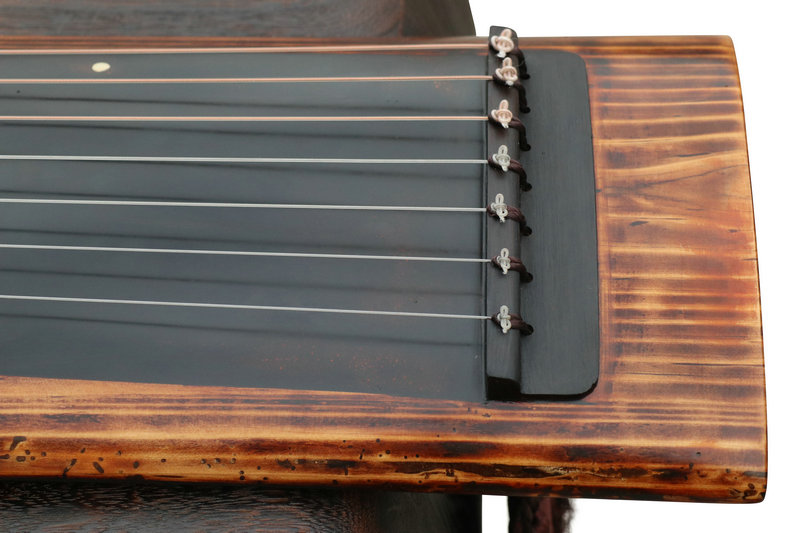 Concert Grade Aged Fir Wood Guqin Chinese 7 Stringed Zither Ku Mu long Yin Style