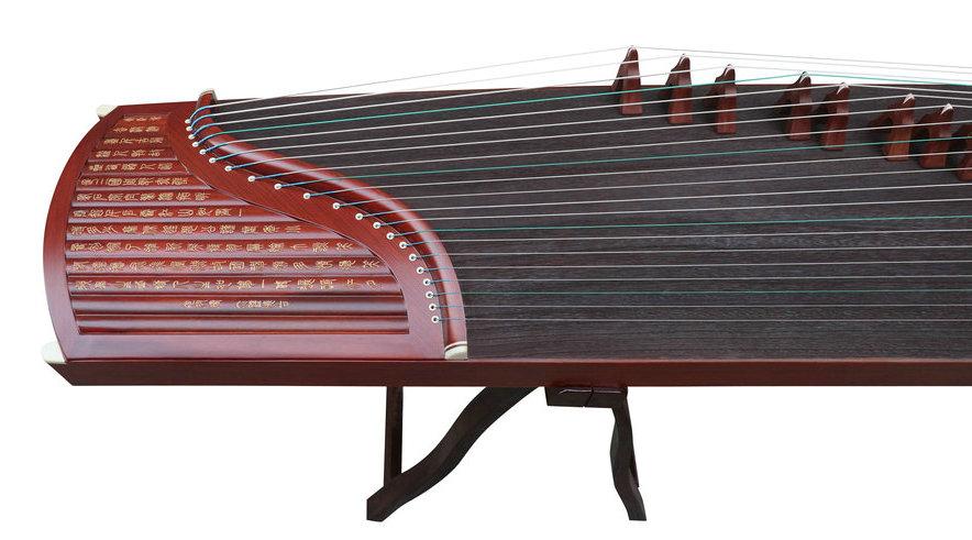Concert Grade Sandalwood Guzheng Instrument Chinese Zither Harp