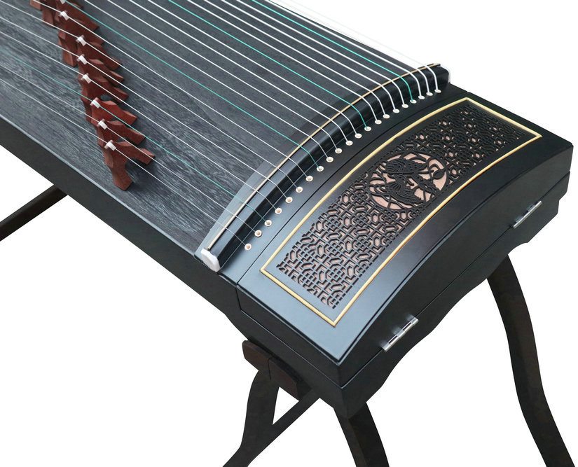 Professional Level Black Sandalwood Guzheng Instrument Chinese Zither Harp