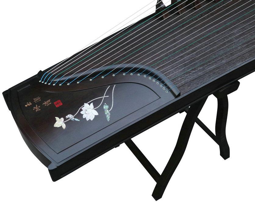 Concert Grade Carved Nanmu Guzheng Instrument Chinese Zither Zheng