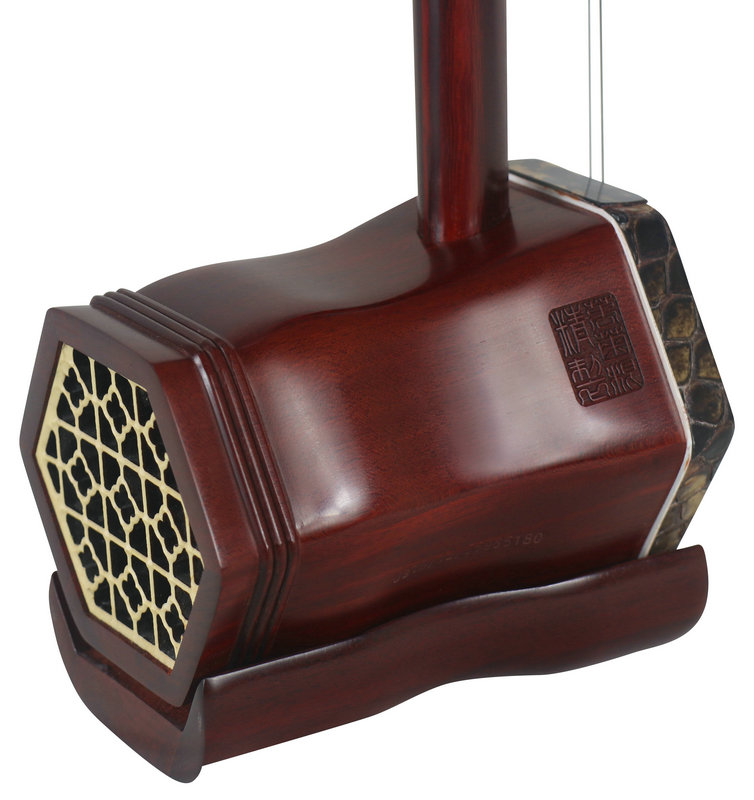 Premium Quality African Purple Sandalwood Erhu Instrument Chinese Violin With Accessories