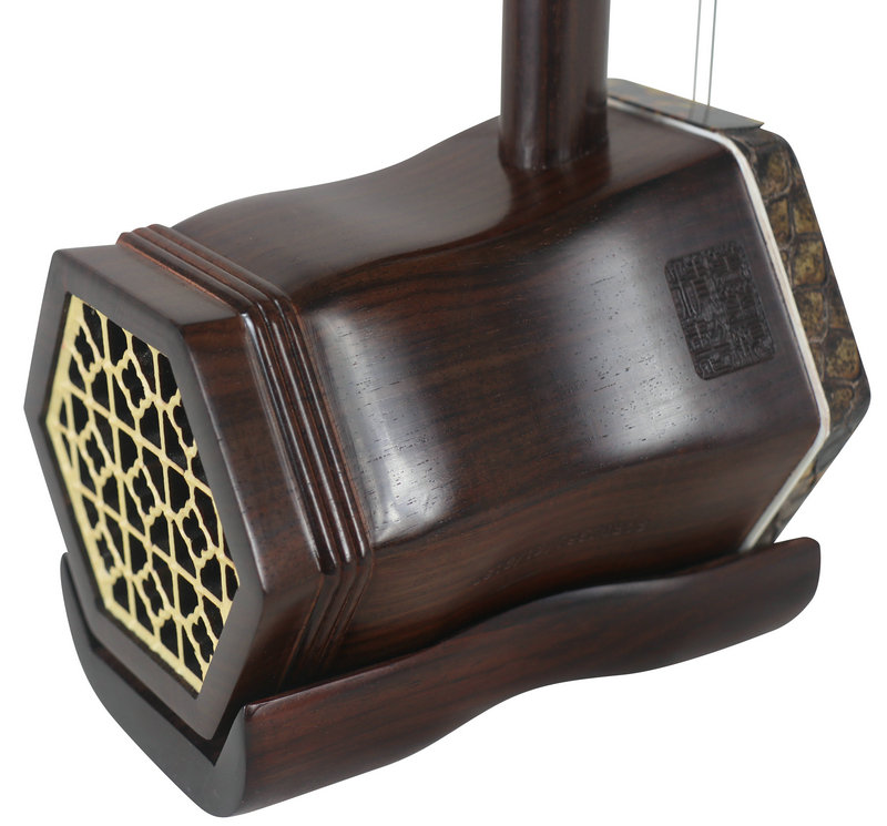 Premium Quality Ming Qing Dynasty Aged Rosewood Erhu Chinese Violin With Accessories