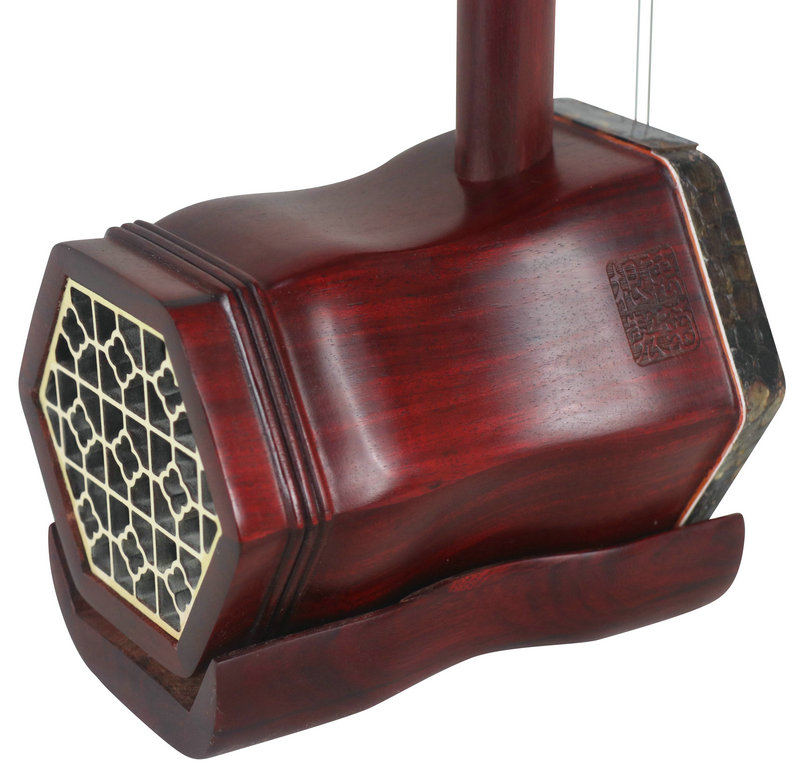 Professional Fine African Purple Sandalwood Erhu Instrument Chinese Violin With Accessories